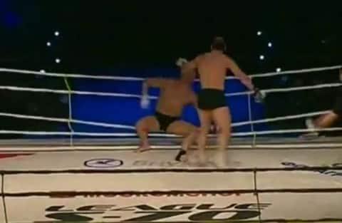 Brutal KO from Big Spin Kick Crowd Roars