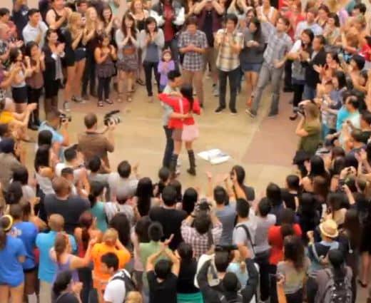 Most Popular Wedding Proposals of 2011 Trang and Nam Proposal Flash Mob at UCLA 4