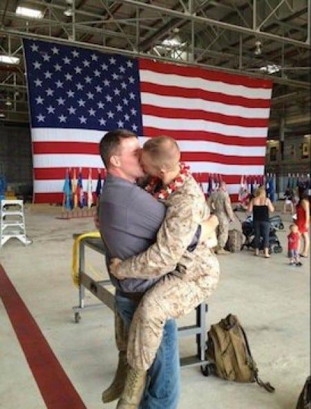 gay marine kiss