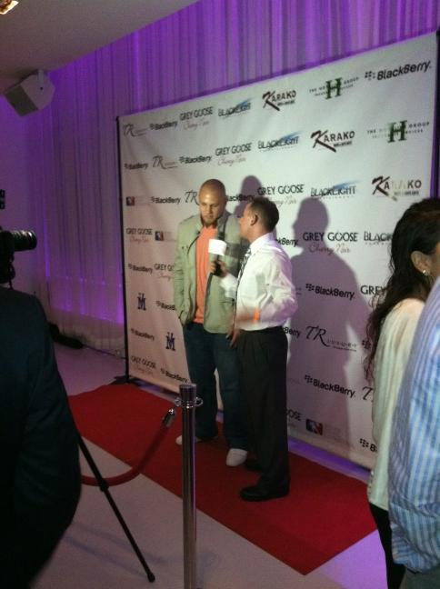 NY JET Josh Baker #45 being interviewed