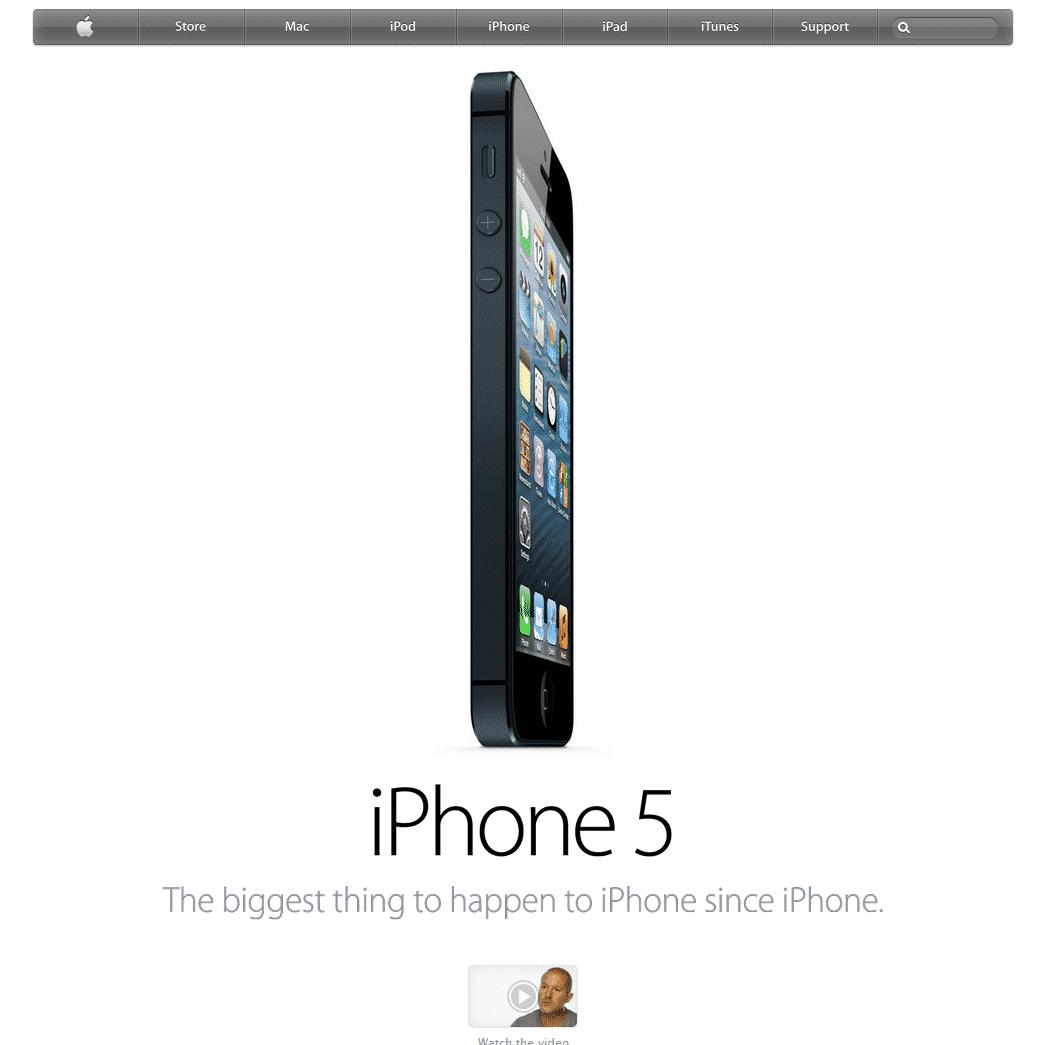 iPhone5-apple-homepage