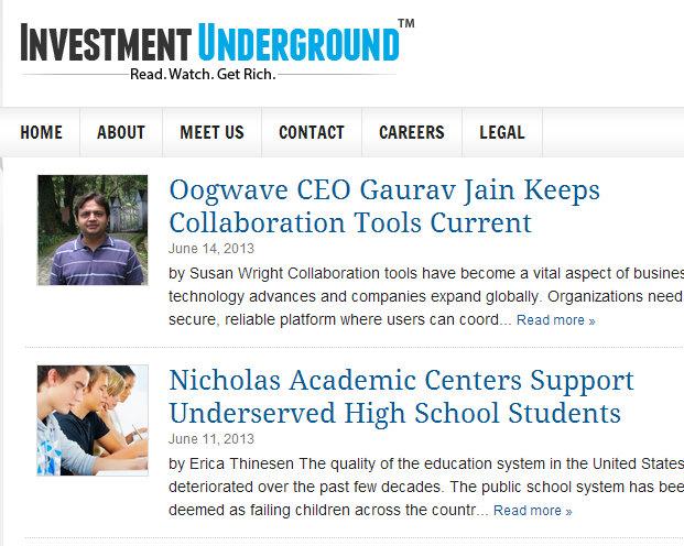 Investment Underground