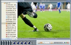 screenshot of live tv pc from satellte